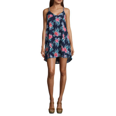 My Michelle Sleeveless Slip Dress-Juniors