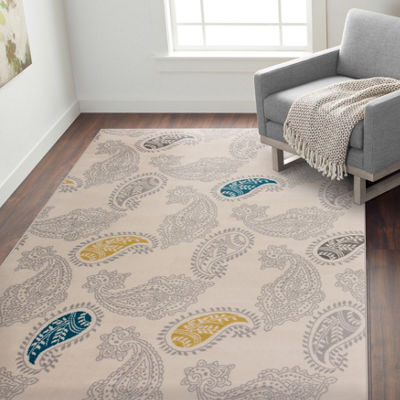 World Rug Gallery Contemporary Modern Floral Paisley Pattern Area Rug