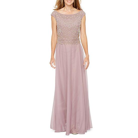 Jackie Jon Sleeveless Beaded Evening Gown