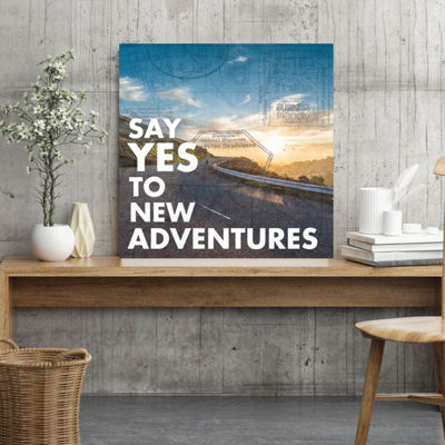 Say Yes To New Adventures Canvas Art