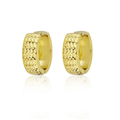 14K Gold 16mm Hoop Earrings
