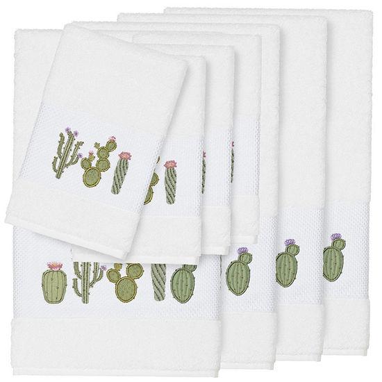 Linum Home Textiles 100 Turkish Cotton Mila 8pc Embellished Towel Set