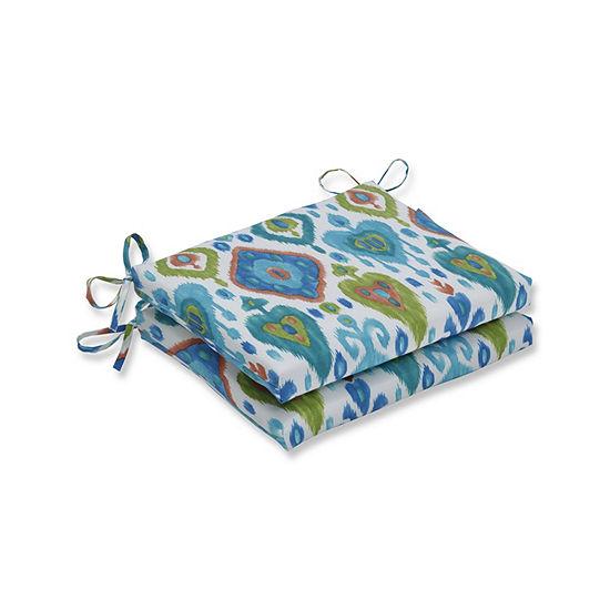 Pillow Perfect Set of 2 Paso Caribe Squared Corners Patio Seat Cushion