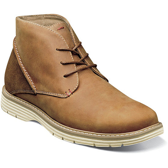 Nunn Bush Mens Littleton Chukka Lace-up Flat Heel Boots