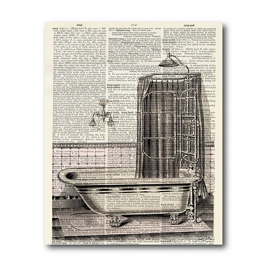 Courtside Market Bathtub Ii Canvas Art