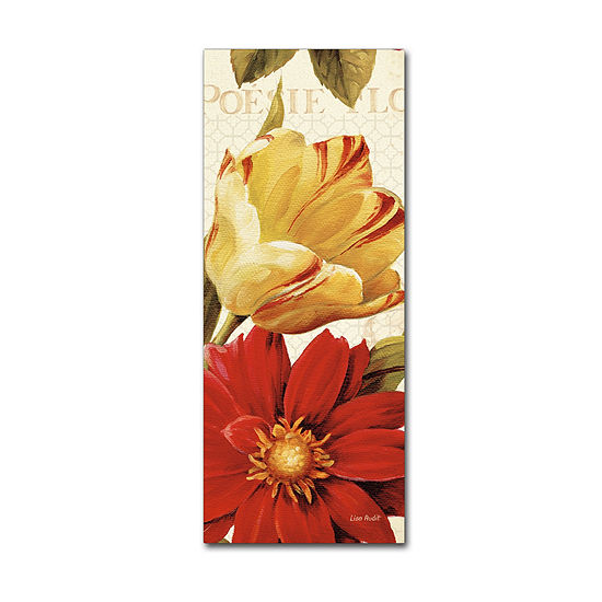 Trademark Fine Art Lisa Audit Poesie Florale PanelII Giclee Canvas Art
