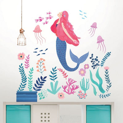 Brewster Wall Let'S Be Mermaids Wall Art Kit Wall Decal