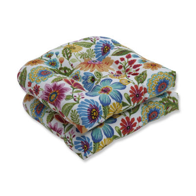Pillow Perfect Set of 2 Gregoire Prima Wicker Patio Seat Cushion
