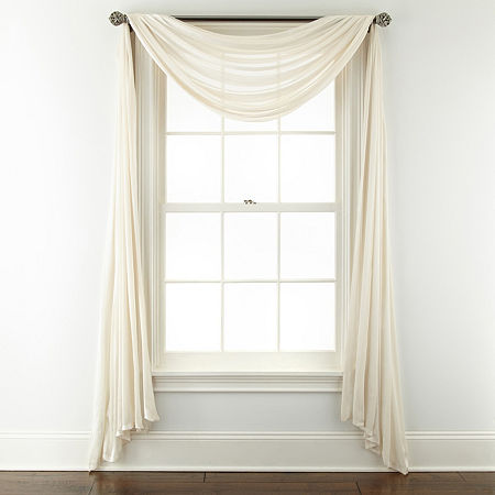 JCPenney Home Cherise Scarf Valance, One Size , Beige