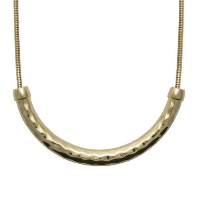 Bold Elements Womens Curved Choker Necklace