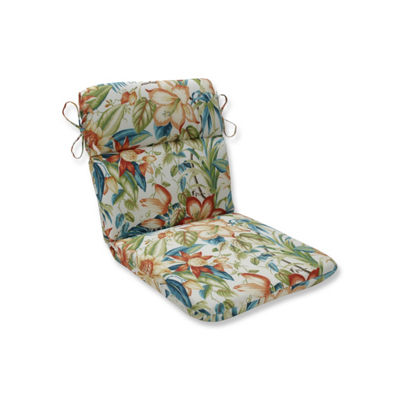 Pillow Perfect Botanical Glow Tiger Lily Rounded Corners Patio Chair Cushion