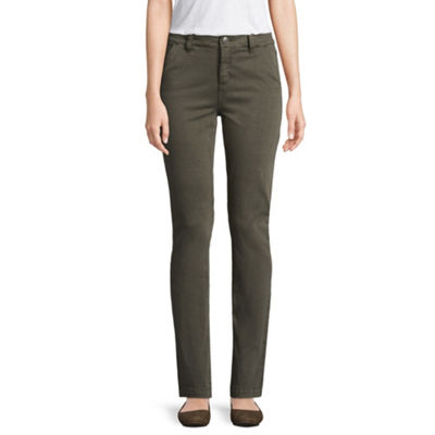 St. John's Bay Sateen Trouser Pant - Tall