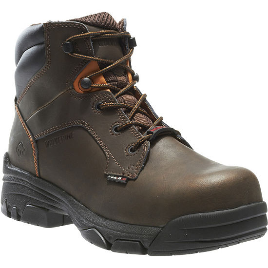 Wolverine Mens Merlin Waterproof Slip Resistant Work Boots