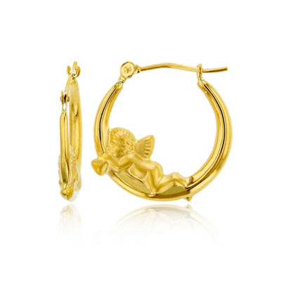 14K Gold 20mm Hoop Earrings