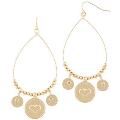 Bold Elements 1 1/2 Inch Hoop Earrings