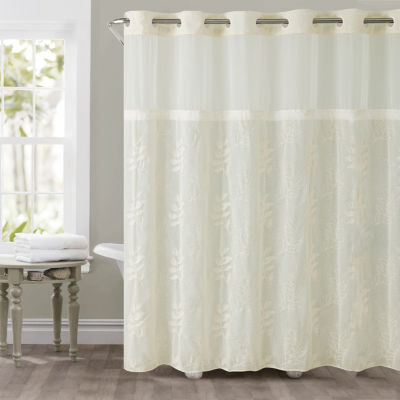 Palm Leaves Hookless Shower Curtain