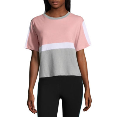 Flirtitude Colorblock Cropped Tee - Juniors
