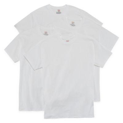 Hanes Stretch 3 + 1 Bonus Pair Short Sleeve Crew Neck T-Shirts - Men's