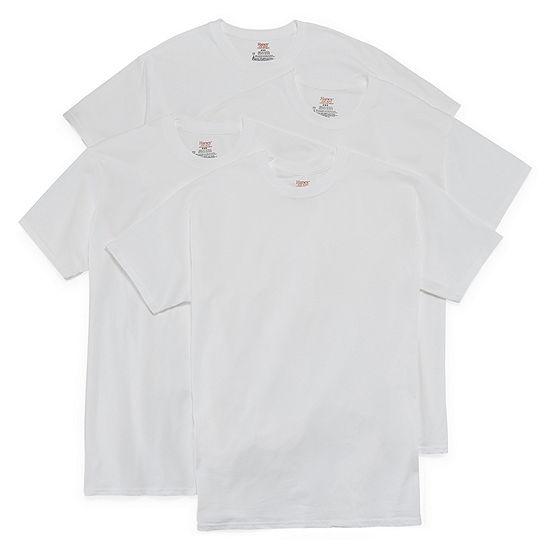 Hanes Stretch 3 + 1 Bonus Pack Short Sleeve Crew Neck T-Shirts - Men's