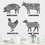 New View Farm Animals Wall Decal