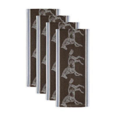 Horse Jacquard Dishtowel Set - Set of 4