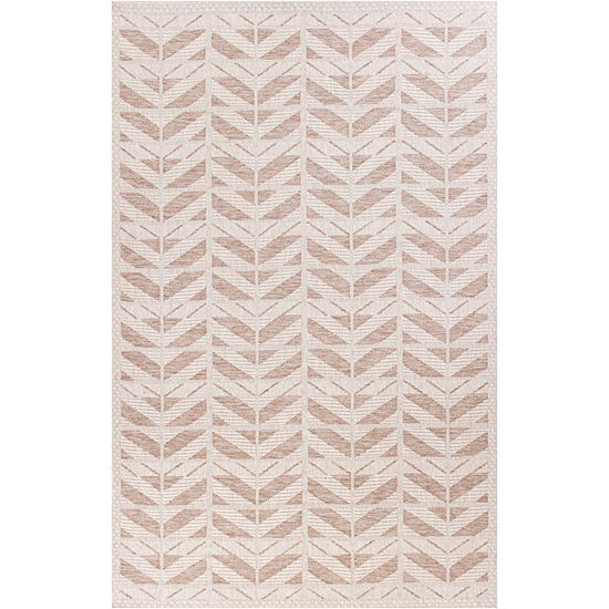 Kas Farmhouse Chevron Rectangular Indoor/Outdoor Rugs