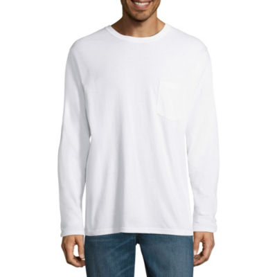 Stafford Long Sleeve Crew Neck Pocket T-Shirt