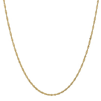 14K Gold Solid Singapore 16 Inch Chain Necklace