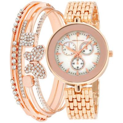 Adrienne Vittadini   Womens Rose Goldtone Bracelet Watch-Adst2620r679-431