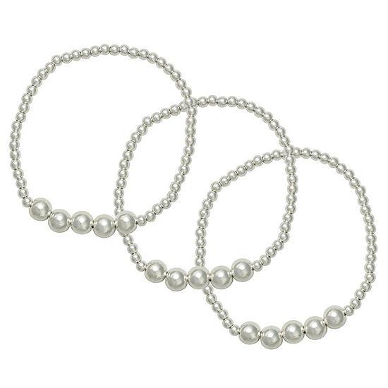 Bold Elements Round Stretch Bracelet