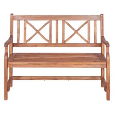 48-Inch Acacia Wood Folding Patio Bench