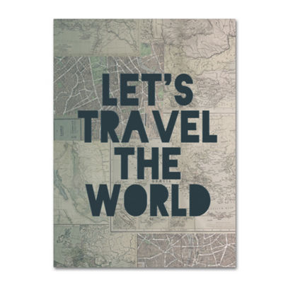 Trademark Fine Art Leah Flores Travel the World Giclee Canvas Art