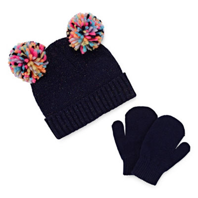 Capelli of N.Y. 2-pc Hat and Mitten Set- Big Girls