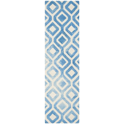 Safavieh Dip Dye Collection Lucian Geometric Runner Rug