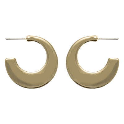 Bold Elements 25mm Round Hoop Earrings