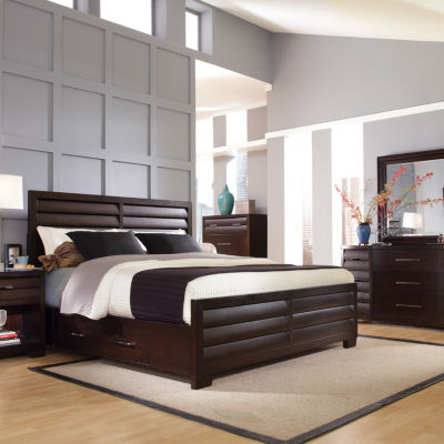 Sable Queen Bed with Underbed Storage