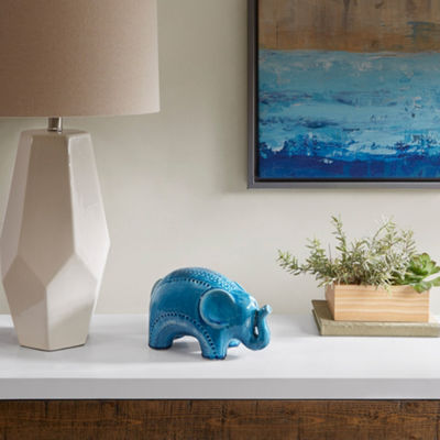 Madison Park Elephant Shaped Ceramic Decor