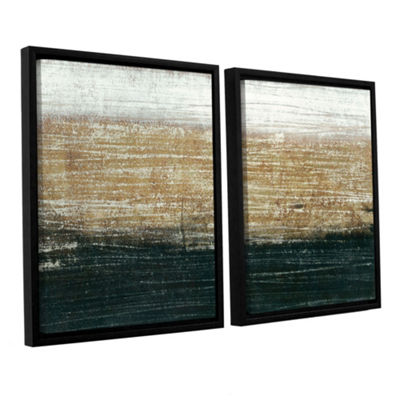 Sandstorm 2-pcFloater-Framed Gallery Wrapped Canvas Set