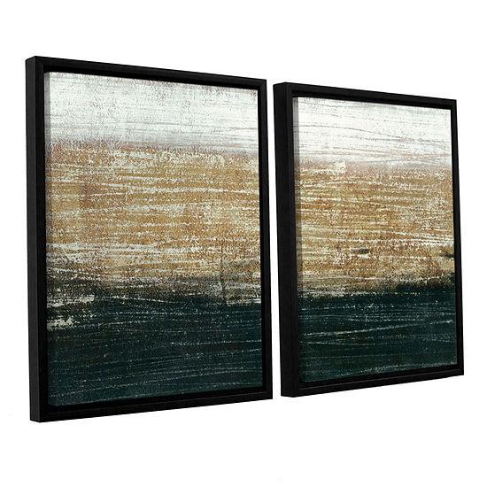Sandstorm 2-pc Floater-Framed Gallery Wrapped Canvas Set