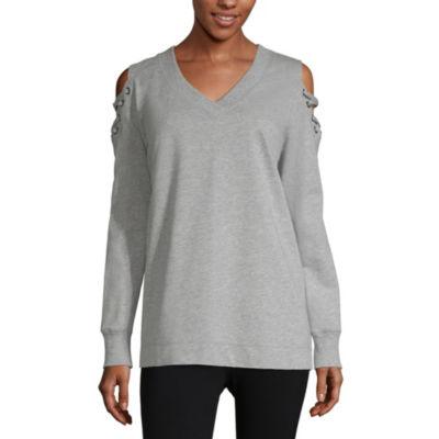 Xersion Cold Shoulder Sweatshirt