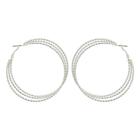 Bold Elements Stainless Steel 65mm Hoop Earrings