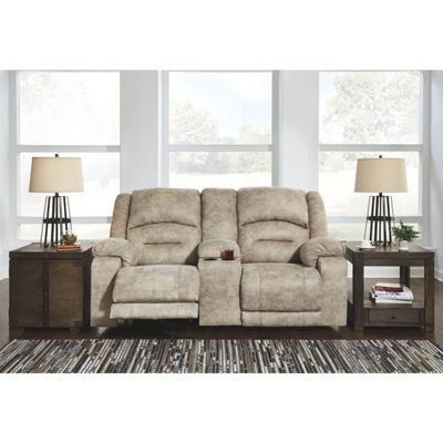 Signature Design By Ashley® Mcginty Power Reclining Loveseat With Console