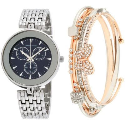 Adrienne Vittadini   Womens Silver Tone Bracelet Watch-Adst2620s679-004