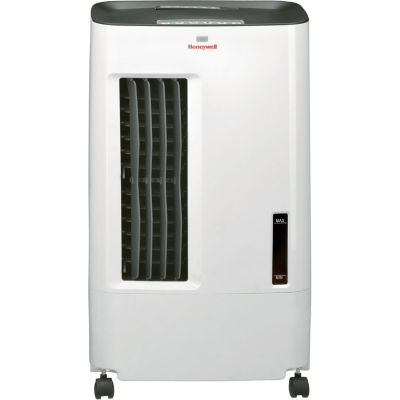 Honeywell 176 CFM Indoor Evaporative Air Cooler (Swamp Cooler) with Remote Control in White/Gray