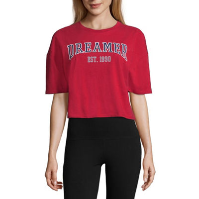 "Flirtitude ""Dreamer"" Cropped Tee - Juniors"