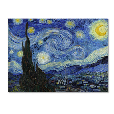 Trademark Fine Art Vincent van Gogh Starry Night Giclee Canvas Art