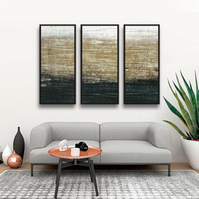 Sandstorm 3-pc Floater-Framed Gallery Wrapped Canvas Set