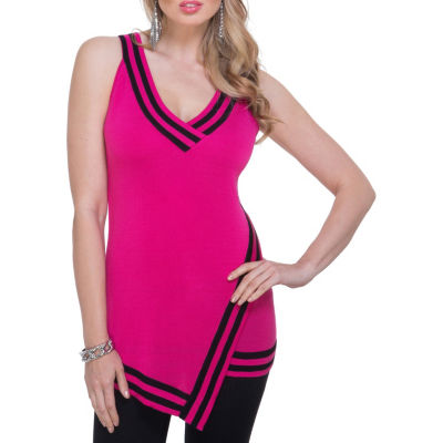 Kaily K. Sleeveless Striped Band Tunic