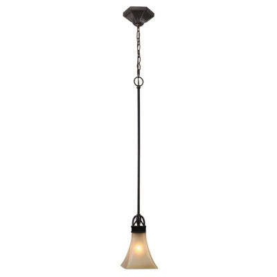 Genesis Mini Pendant in Roan Timber with Evolution Glass