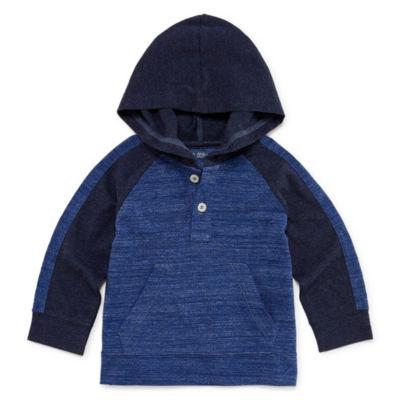 Okie Dokie Hooded Long Sleeve Henley - Baby Boy 3M-24M